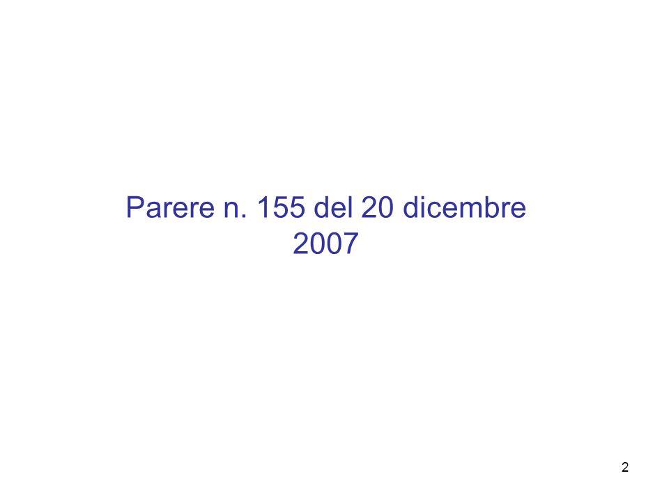 2 Parere n. 155 del 20 dicembre 2007