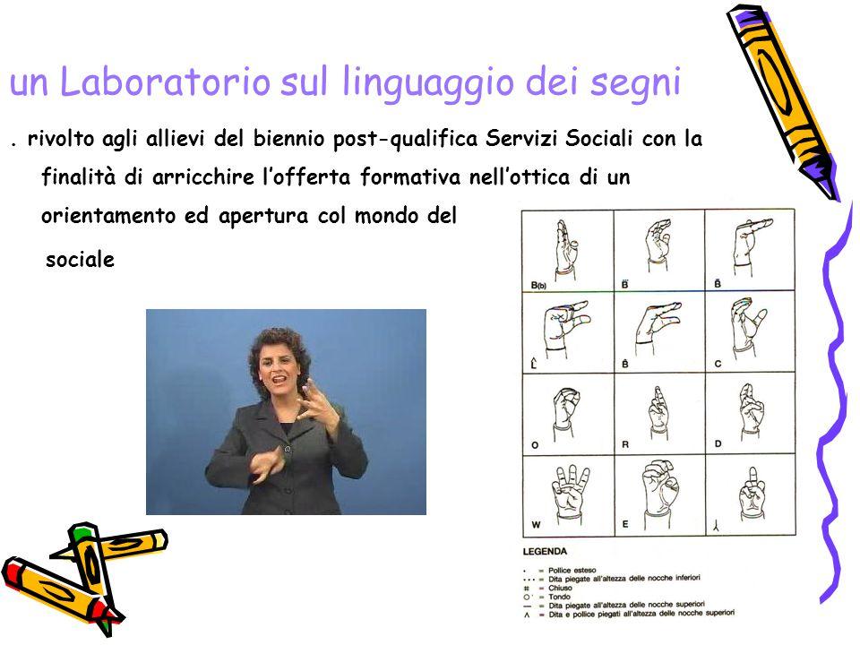 un Laboratorio sul linguaggio dei segni.