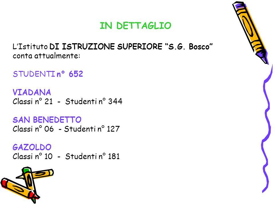 IN DETTAGLIO L'Istituto DI ISTRUZIONE SUPERIORE S.G.