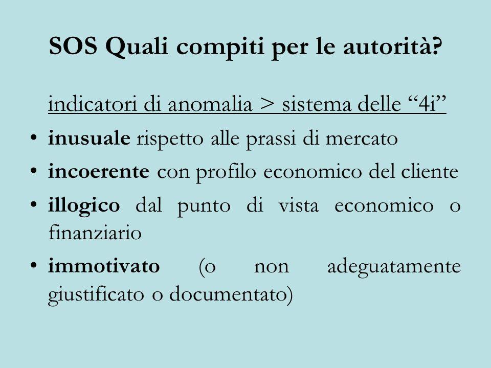 SOS Quali compiti per le autorità.