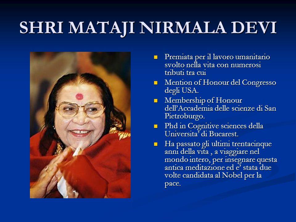 SHRI MATAJI NIRMALA DEVI Premiata per il lavoro umanitario svolto nella vita con numerosi tributi tra cui Mention of Honour del Congresso degli USA.