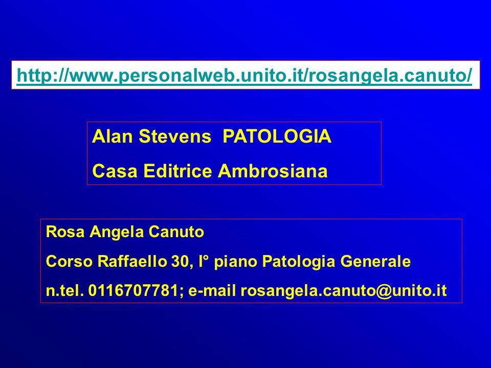 http://www.personalweb.unito.it/rosangela.canuto/ Alan Stevens PATOLOGIA Casa Editrice Ambrosiana Rosa Angela Canuto Corso Raffaello 30, I° piano Pato