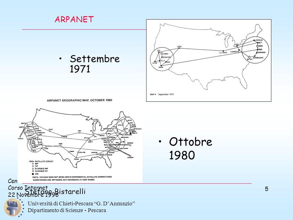 """Centro di Calcolo Corso Internet 22 Novembre 1996 Stefano Bistarelli Università di Chieti-Pescara """"G. D'Annunzio"""" Dipartimento di Scienze - Pescara 5"""