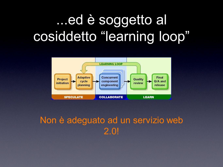 ...ed è soggetto al cosiddetto learning loop Non è adeguato ad un servizio web 2.0!