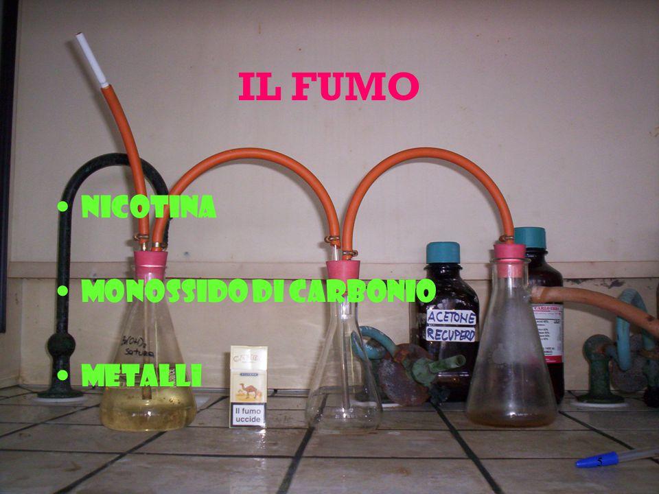 5 IL FUMO Nicotina Monossido di carbonio Metalli