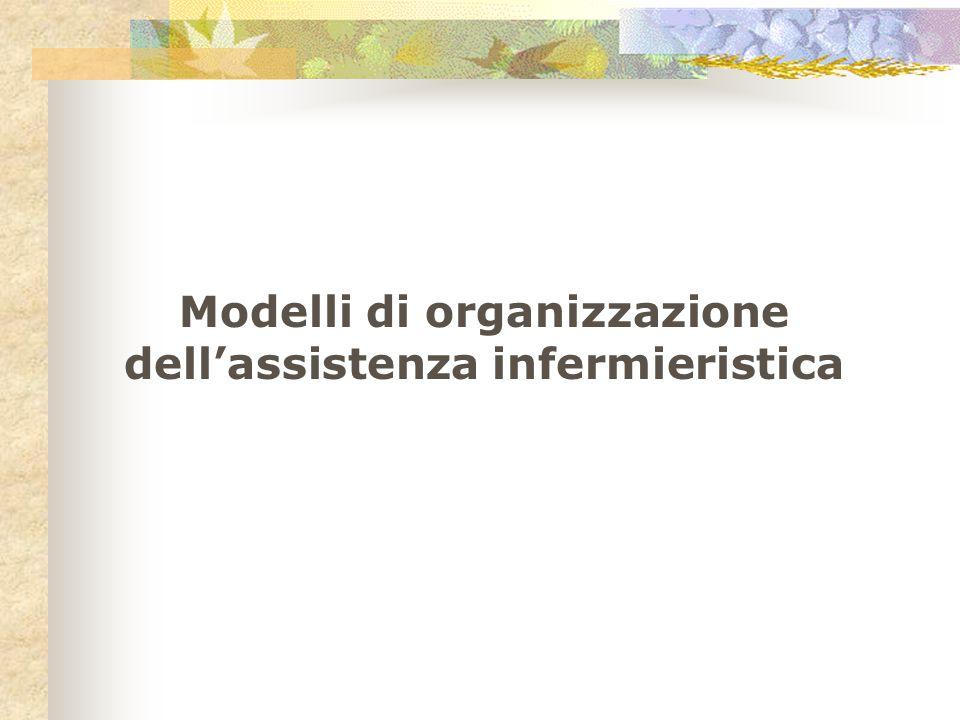 Modelli di organizzazione dell'assistenza infermieristica