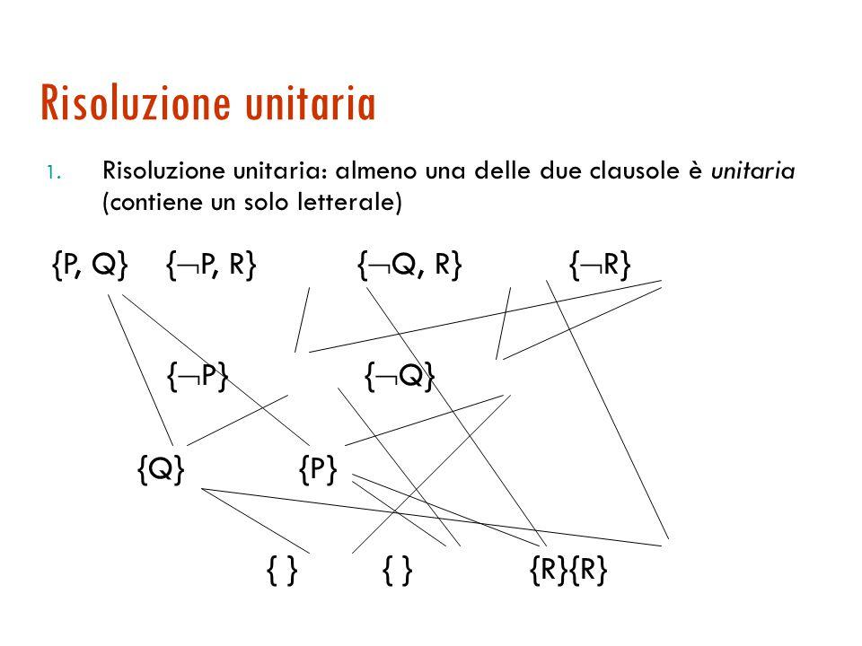Strategie di restrizione  Ad ogni passo si sceglie tra un sottoinsieme delle possibili clausole  Tra le strategie di restrione possibili: 1.