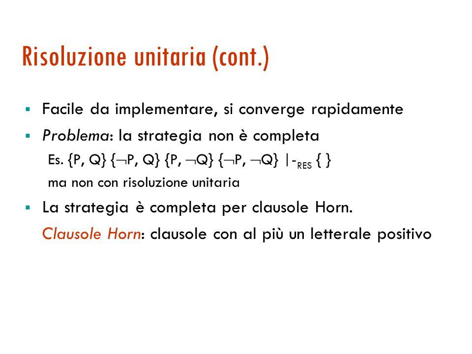Risoluzione unitaria 1.