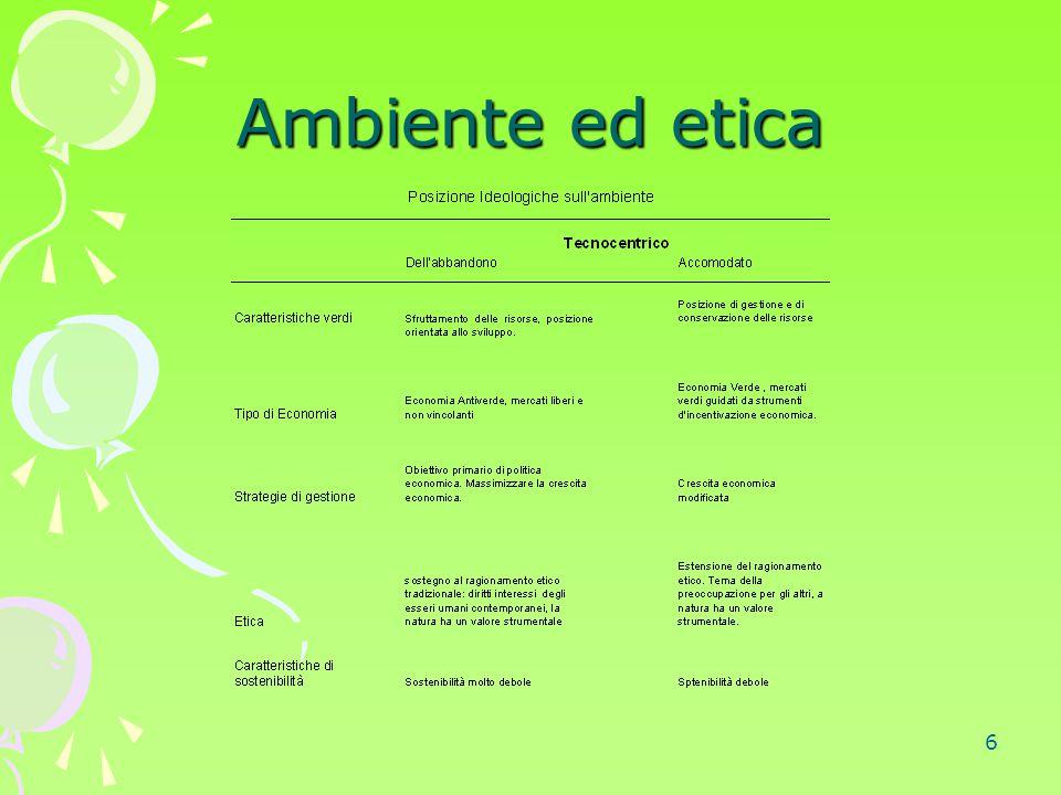 27 La valutazione dell'ambiente 4.