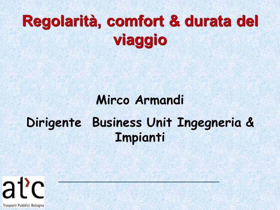 Regolarità, comfort & durata del viaggio Mirco Armandi Dirigente Business Unit Ingegneria & Impianti