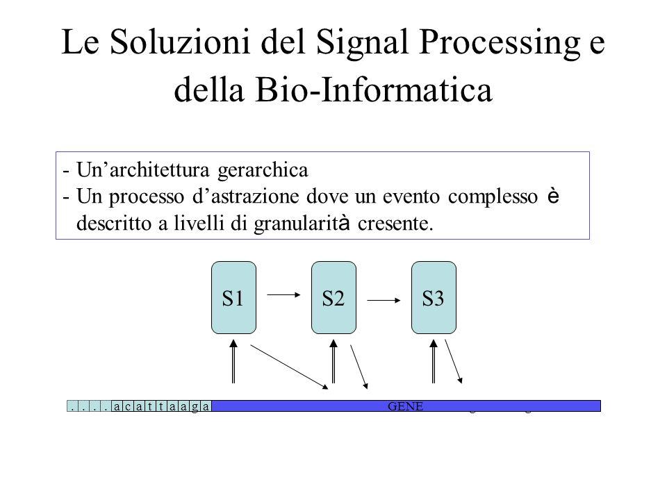 Le Soluzioni del Signal Processing e della Bio-Informatica acattaagatataaaaa.cattaagatatgacta..............