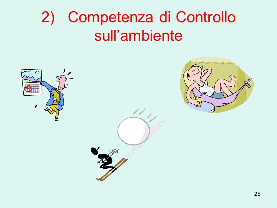 25 2) Competenza di Controllo sull'ambiente