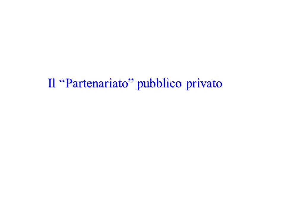 Il Partenariato pubblico privato