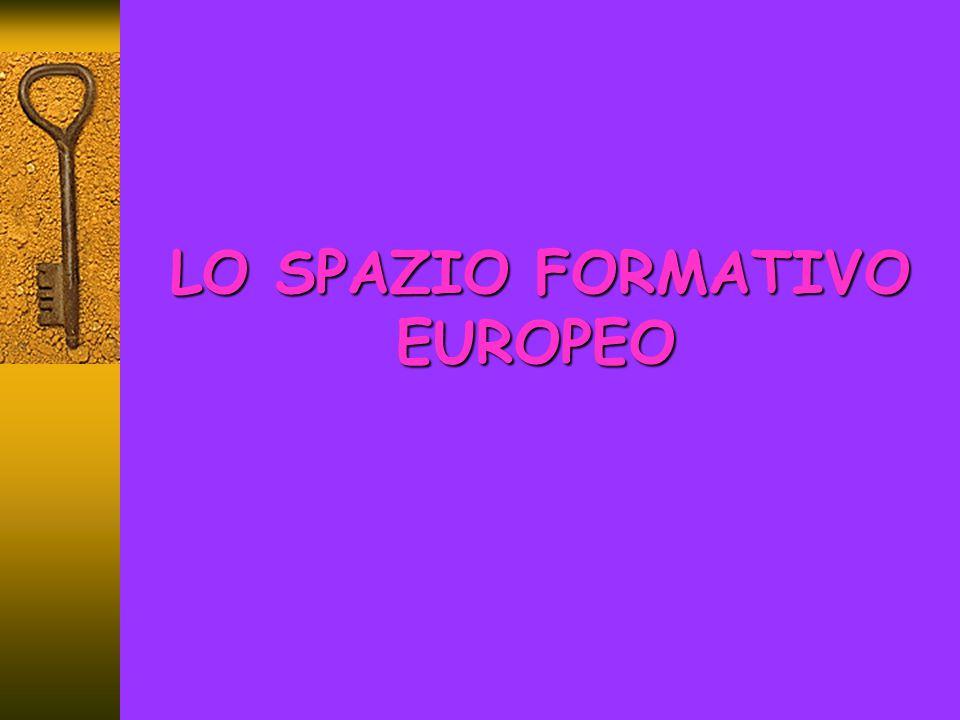 Europa e Formazione Accordi tra i Paesi membri 1985 – Relazione Adonnino.
