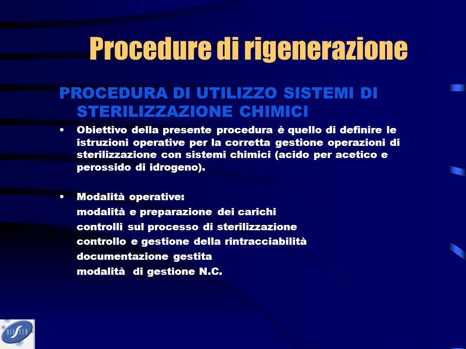 PROCEDURA DI UTILIZZO SISTEMI DI STERILIZZAZIONE CHIMICI Obiettivo della presente procedura è quello di definire le istruzioni operative per la corret
