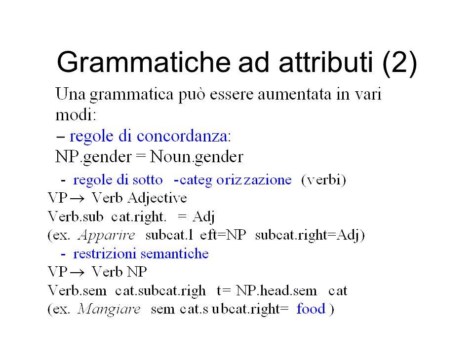 Grammatiche ad attributi (2)