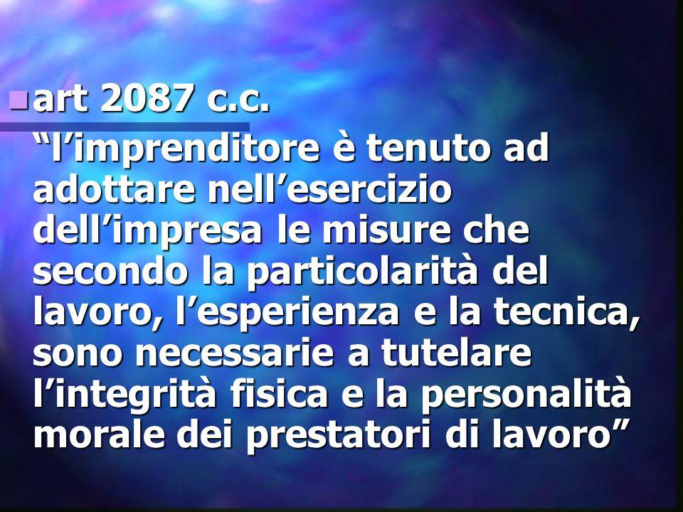 art 2087 c.c.art 2087 c.c.