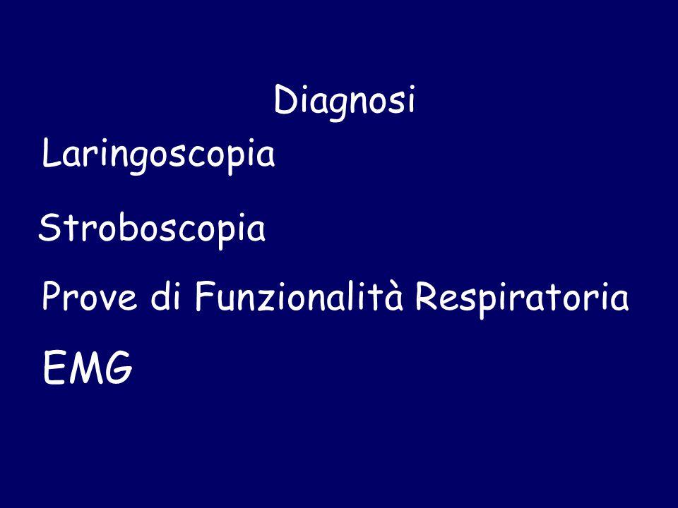 Diagnosi Laringoscopia Stroboscopia EMG Prove di Funzionalità Respiratoria