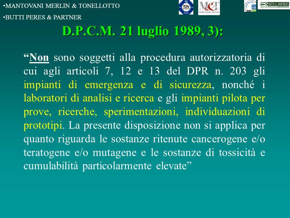 MANTOVANI MERLIN & TONELLOTTO BUTTI PERES & PARTNER D.P.C.M.