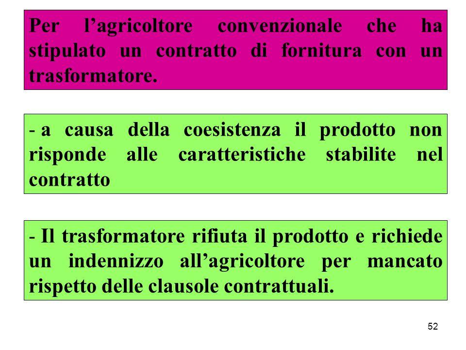 52 Per l'agricoltore convenzionale che ha stipulato un contratto di fornitura con un trasformatore.