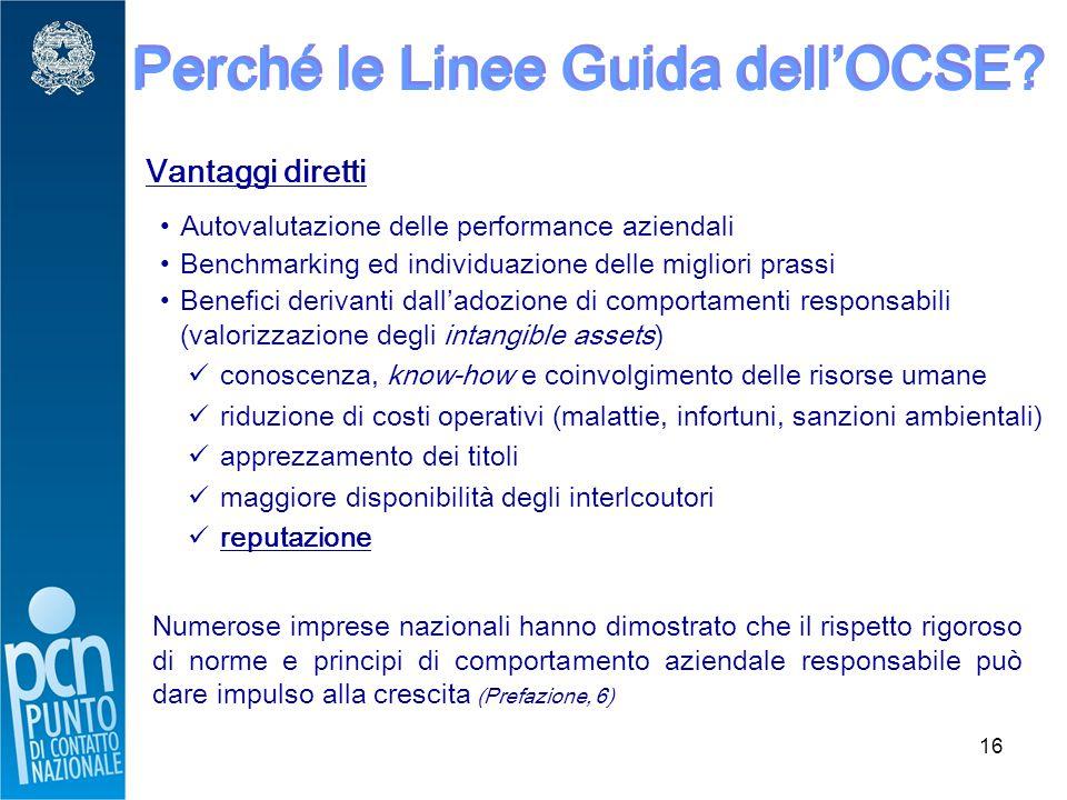 16 Perché le Linee Guida dell'OCSE.