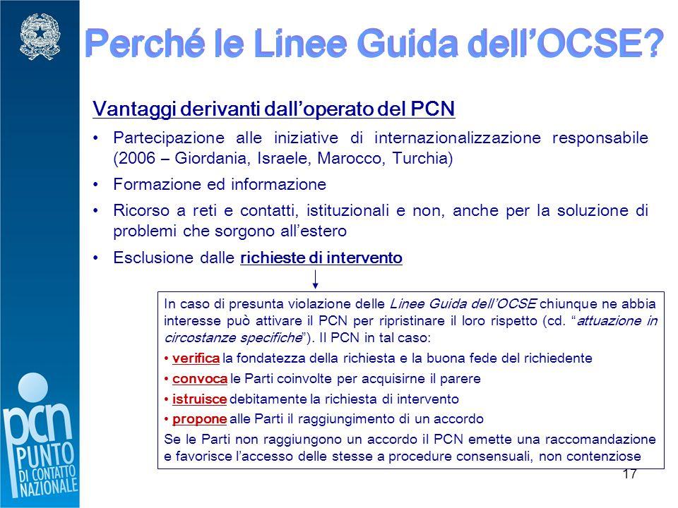 17 Perché le Linee Guida dell'OCSE.