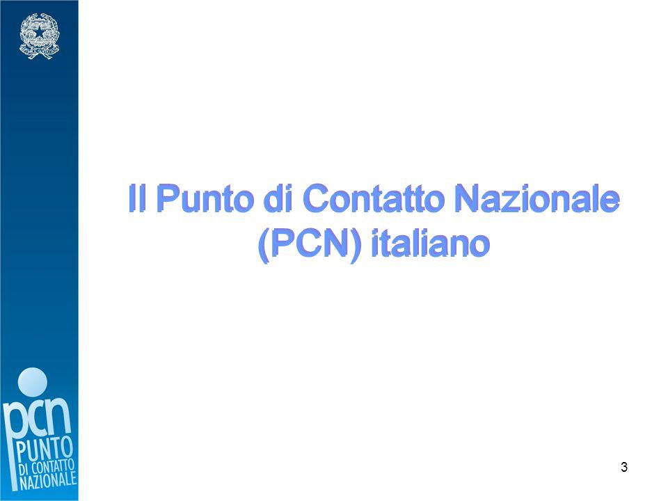 3 Il Punto di Contatto Nazionale (PCN) italiano