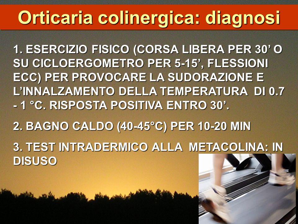 1. ESERCIZIO FISICO (CORSA LIBERA PER 30' O SU CICLOERGOMETRO PER 5-15', FLESSIONI ECC) PER PROVOCARE LA SUDORAZIONE E L'INNALZAMENTO DELLA TEMPERATUR