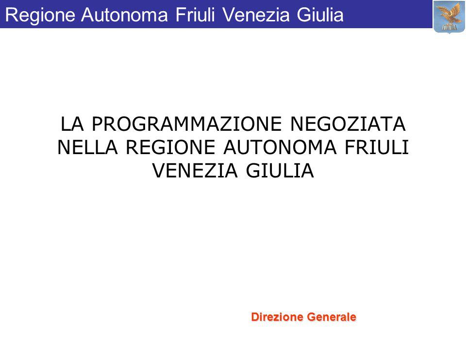 LA PROGRAMMAZIONE NEGOZIATA NELLA REGIONE AUTONOMA FRIULI VENEZIA GIULIA Direzione Generale Regione Autonoma Friuli Venezia Giulia