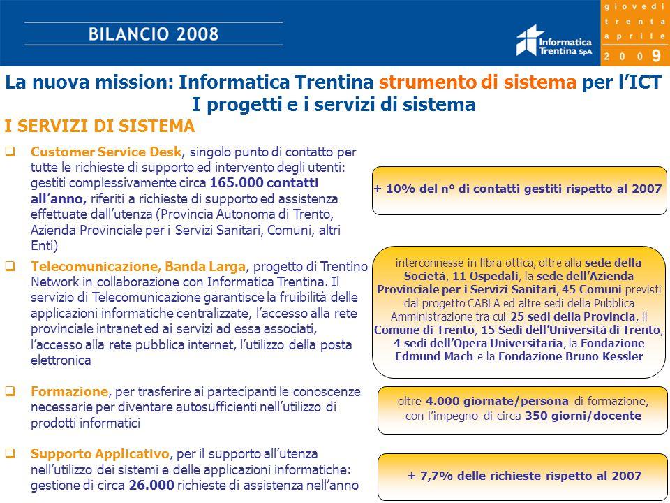 17  Telecomunicazione, Banda Larga, progetto di Trentino Network in collaborazione con Informatica Trentina.