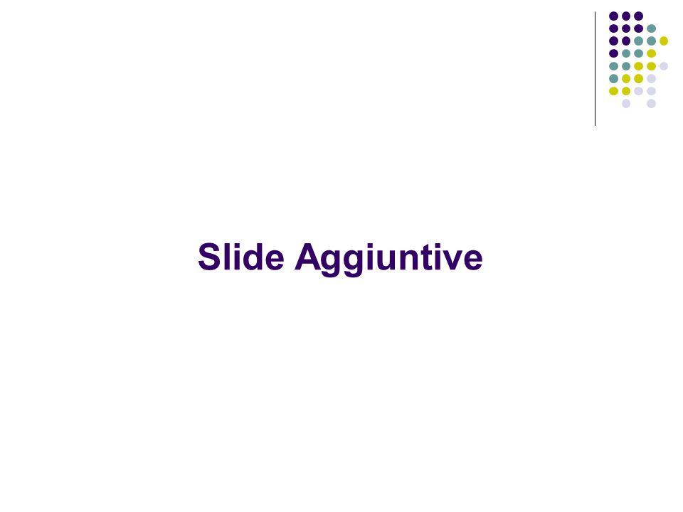 Slide Aggiuntive