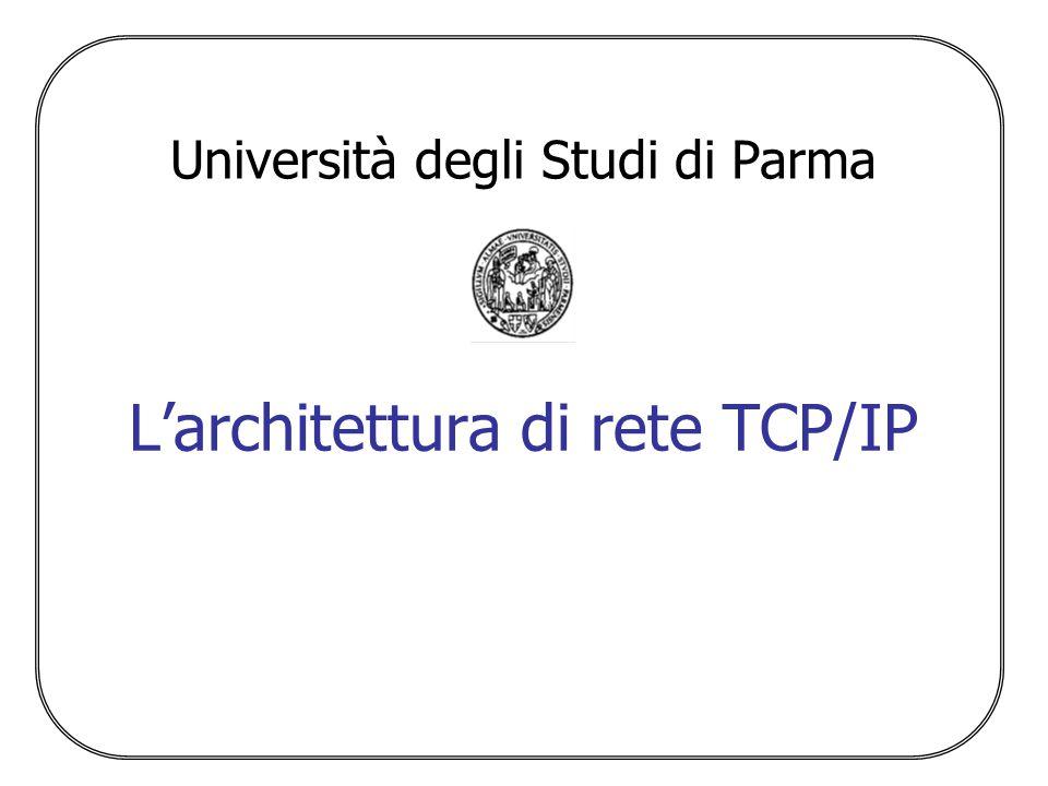 Università degli Studi di Parma L'architettura di rete TCP/IP
