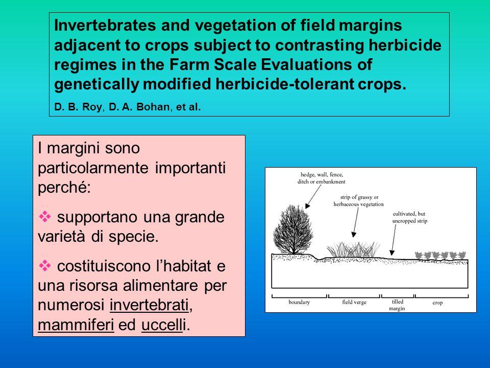 I margini sono particolarmente importanti perché:  supportano una grande varietà di specie.
