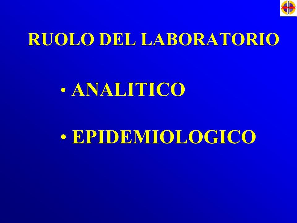 RUOLO DEL LABORATORIO ANALITICO EPIDEMIOLOGICO