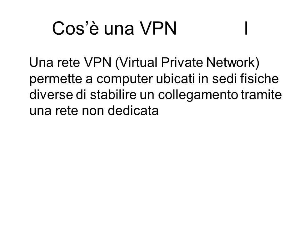 Cos'è una VPN I Una rete VPN (Virtual Private Network) permette a computer ubicati in sedi fisiche diverse di stabilire un collegamento tramite una re