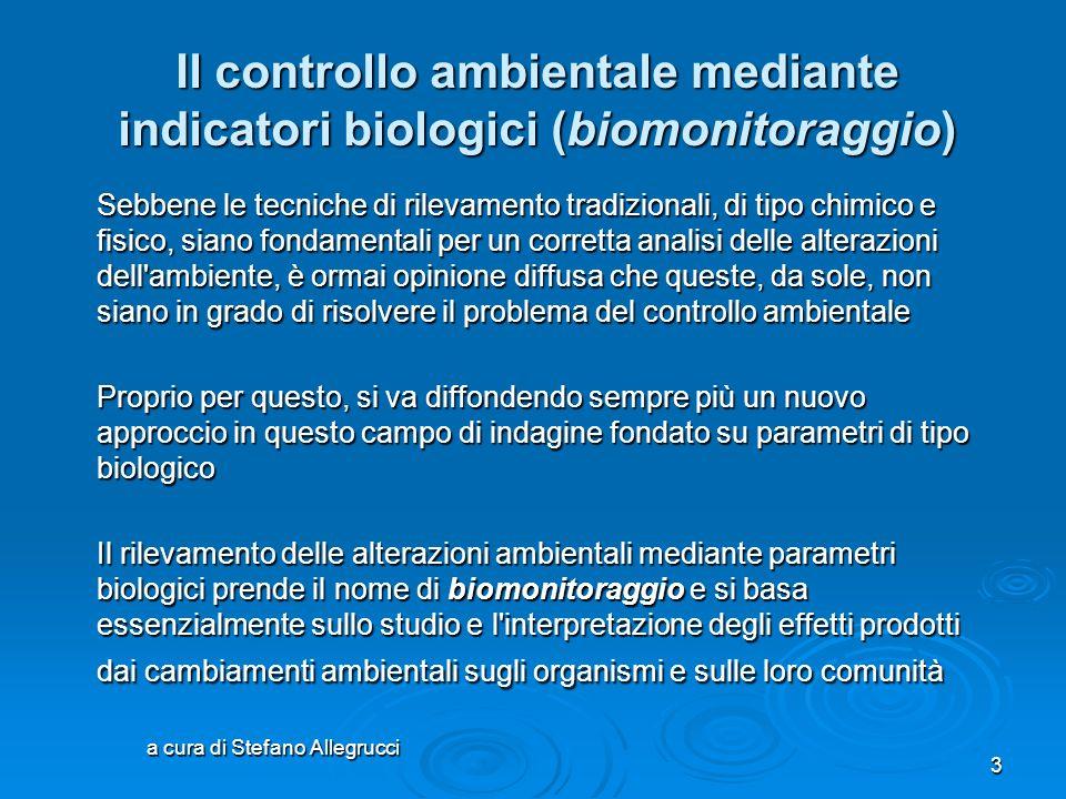 """a cura di Stefano Allegrucci 2 Gli indicatori biologici nelle acque dolci Itas """"G.Bruno"""" Perugia Indirizzo Biologico"""