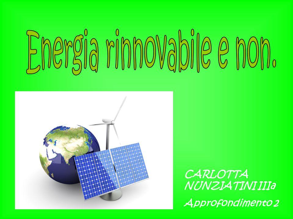 Le energie non rinnovabili sono quelle fonti di energia che derivano da risorse che tendono ad esaurirsi sulla scala dei tempi umani, diventando troppo costose o troppo inquinanti per l ambiente, al contrario di quelle rinnovabili, che vengono reintegrate naturalmente in un periodo di tempo relativamente breve.