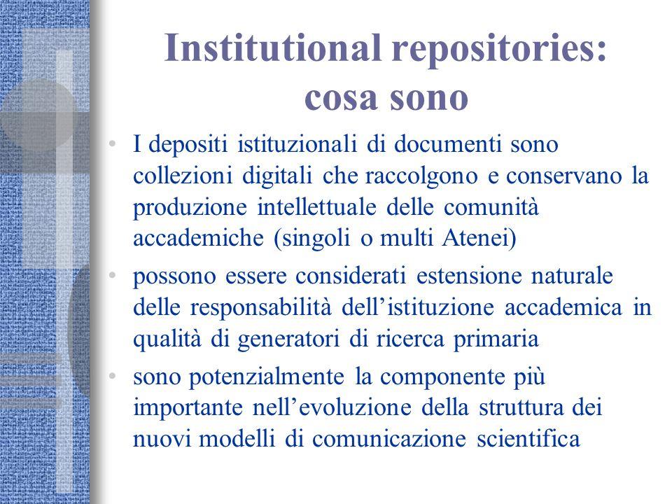 Institutional repositories: cosa sono I depositi istituzionali di documenti sono collezioni digitali che raccolgono e conservano la produzione intelle