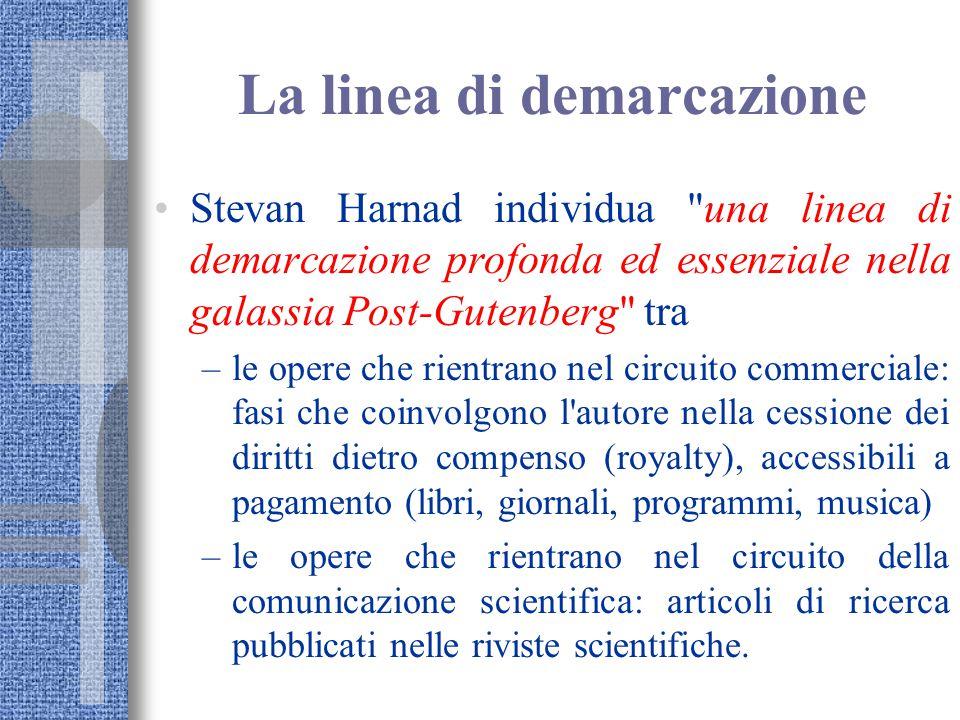 La linea di demarcazione Stevan Harnad individua