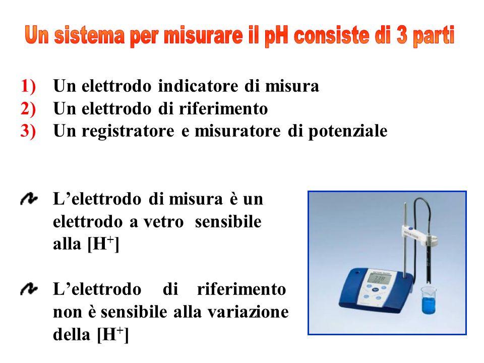1)Un elettrodo indicatore di misura 2)Un elettrodo di riferimento 3)Un registratore e misuratore di potenziale L'elettrodo di misura è un elettrodo a