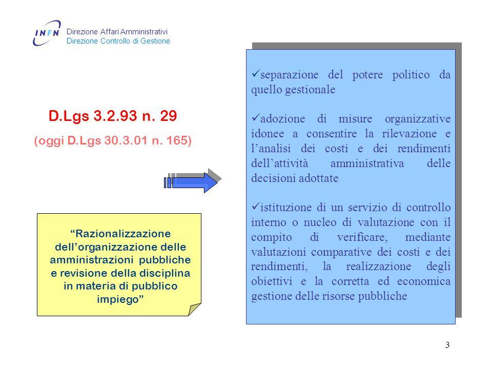 Direzione Affari Amministrativi Direzione Controllo di Gestione 2 LO SCENARIO NORMATIVO Perugia 4, 5, 6 maggio 2004