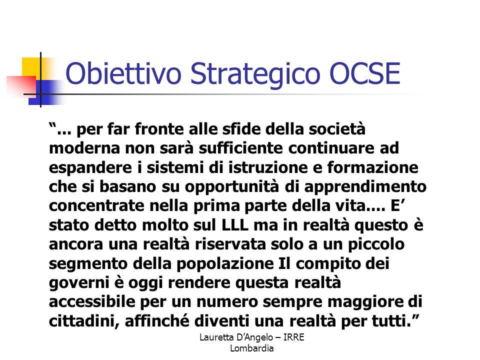 """Lauretta D'Angelo – IRRE Lombardia Obiettivo Strategico OCSE """"... per far fronte alle sfide della società moderna non sarà sufficiente continuare ad e"""