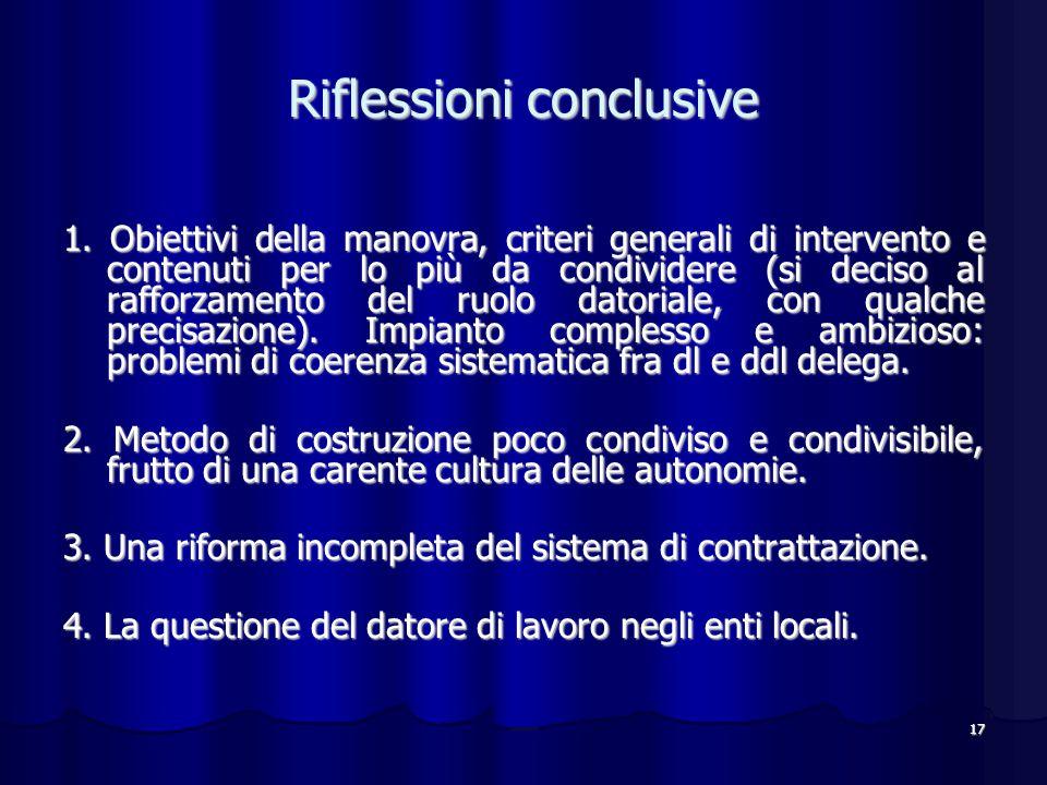 17 Riflessioni conclusive 1.