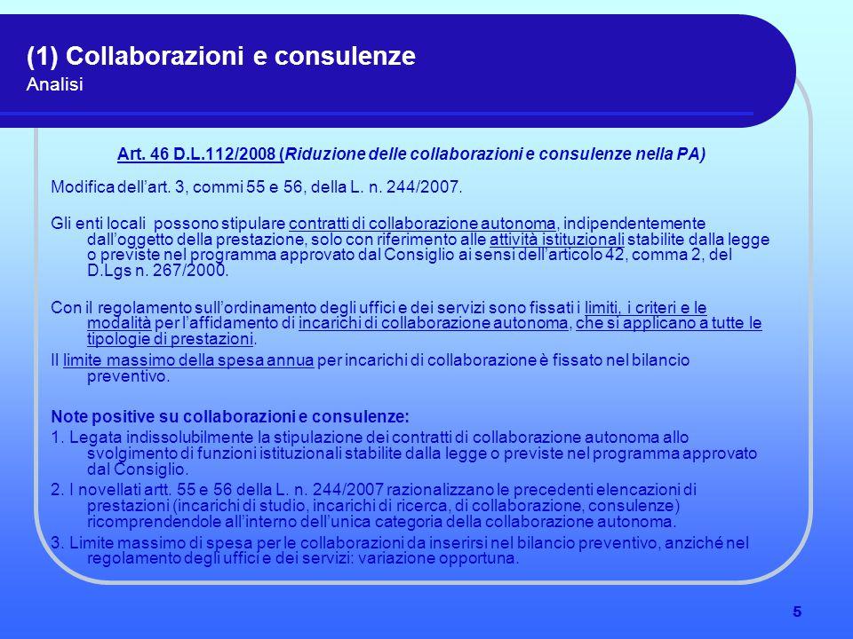6 (1) Il lavoro flessibile Analisi Art.49 D.L. n.
