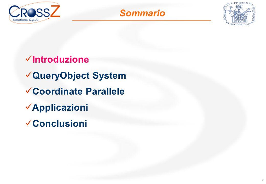 2 Sommario Introduzione QueryObject System Coordinate Parallele Applicazioni Conclusioni