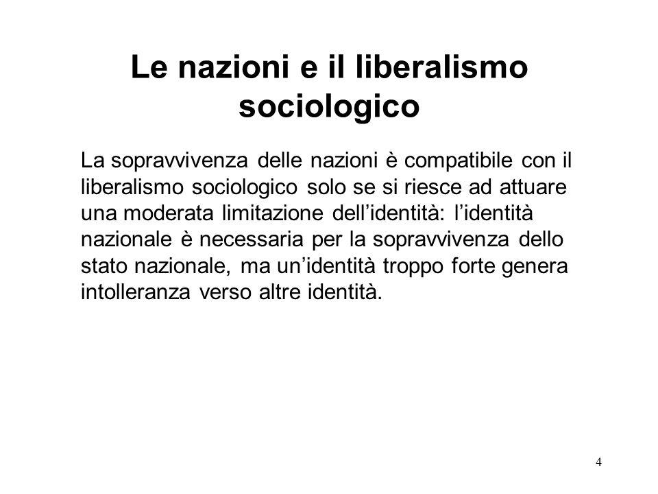 15 In generale i tratti del liberalismo sociologico non hanno ancora permeato i rapporti sociali tra popolazioni europee e immigrati non europei.