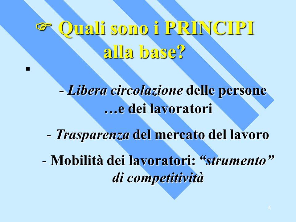 4  Quali sono i PRINCIPI alla base.
