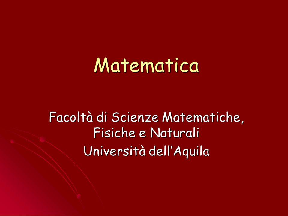 12 Laurea Specialistica (+2) Indirizzi attivati: Didattico Didattico Generale Generale Finanza Matematica.