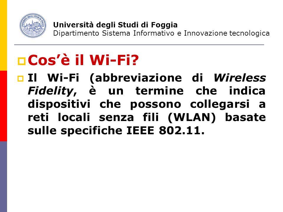  Cos'è il Wi-Fi.