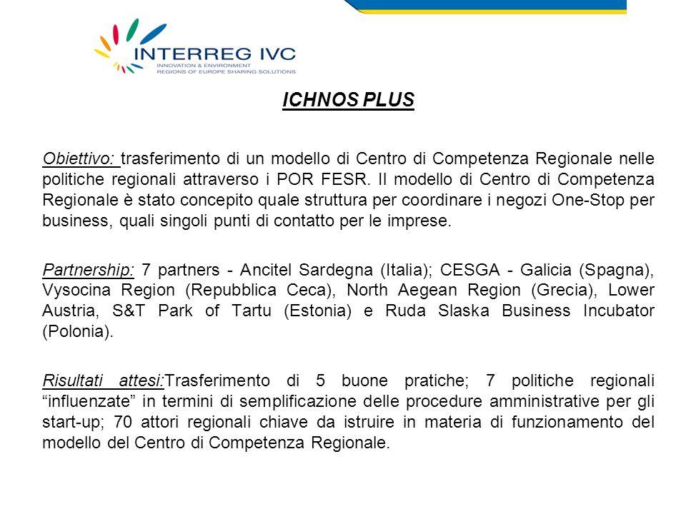 Obiettivo: trasferimento di un modello di Centro di Competenza Regionale nelle politiche regionali attraverso i POR FESR.